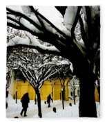 Prague Winter  Fleece Blanket