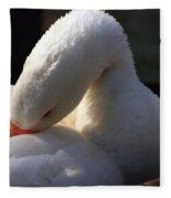 Preening Goose Fleece Blanket