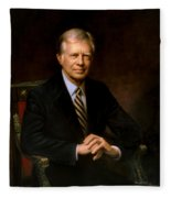 President Jimmy Carter Painting Fleece Blanket