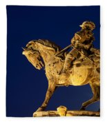 Prince Eugene Of Savoy Statue At Night Fleece Blanket