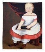 Prior Hamblin School's Little Girl With Slate Fleece Blanket