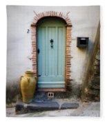 Provence Door Number 2 Fleece Blanket
