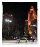 Providence On A Cold December Evening Fleece Blanket