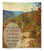Psalm 119 133 Fleece Blanket