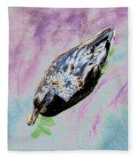 Psychedelic Mallard Duck 2 Fleece Blanket
