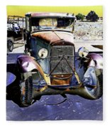Psychedelic Old Pickup Truck 2 Fleece Blanket
