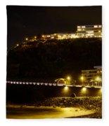 Puerto De La Cruz By Night Fleece Blanket