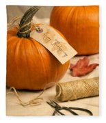 Pumpkins For Thanksgiving Fleece Blanket
