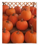 Pumpkins On Pumpkin Patch Fleece Blanket
