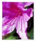 Purple Flower Fleece Blanket