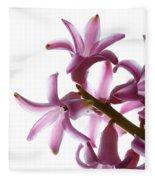 Purple Hyacinth Macro Shot. Fleece Blanket