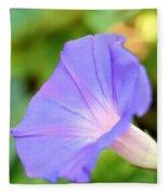 Purple Morning Glory Fleece Blanket
