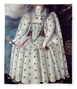Queen Elizabeth I (1533-1603) Fleece Blanket