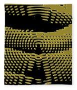 Radial Gold Fleece Blanket