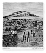 Railroad Accident, 1887 Fleece Blanket
