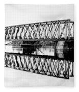 Railroad Bridge Red River Fleece Blanket