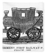 Railroad Passenger Car Fleece Blanket