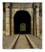 Railroad Tunnel 3 Bnsf 1 B Fleece Blanket