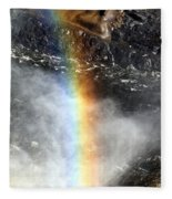 Rainbow And Falls Fleece Blanket