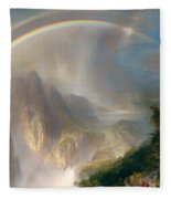 Rainy Season In The Tropics Fleece Blanket