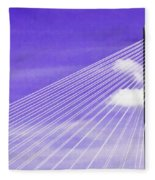 Ravenel Bridge # 2 Fleece Blanket