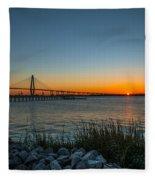 Charleston Sundown Fleece Blanket