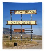 Rawlins Wyoming - Grandma's Cafe Fleece Blanket