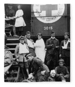Red Cross, C1918 Fleece Blanket
