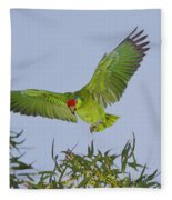 Red-crowned Parrot Fleece Blanket