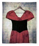 Red Dress Fleece Blanket
