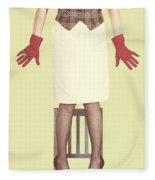 Red Gloves Fleece Blanket