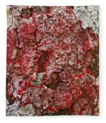 Red Lichen  Fleece Blanket