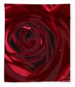 Red Rose Abstract 2 Fleece Blanket