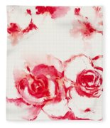Red Rover I Fleece Blanket