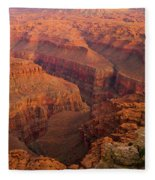 Grand Canyon From Kanab Point Fleece Blanket