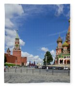 Red Square Fleece Blanket