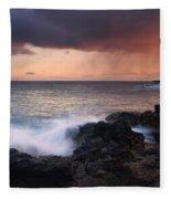 Red Storm Rising Fleece Blanket