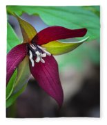 Red Trillium Fleece Blanket
