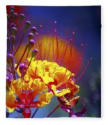 Red Yellow Blossoms 10197 Fleece Blanket