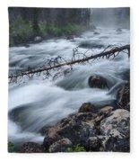 Redfish Creek In Stanley Idaho Fleece Blanket