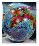 Reflected Globe Fleece Blanket
