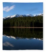 Reflection Bay - Jasper, Alberta - Panorama Fleece Blanket