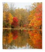 Reflections Of Fall Fleece Blanket
