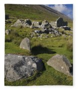 Remains Of Slievemore Village Fleece Blanket