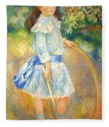Renoir's Girl With A Hoop Fleece Blanket
