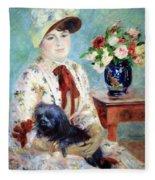 Renoir's Mlle Charlotte Berthier Fleece Blanket