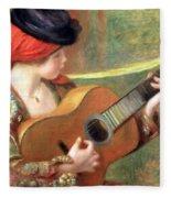 Renoir's Young Spanish Woman With A Guitar Fleece Blanket