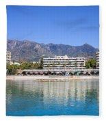 Resort City Of Marbella In Spain Fleece Blanket