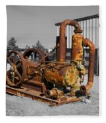 Retired Petroleum Pump Fleece Blanket