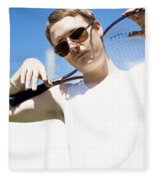 Retro Tennis 1970 Fleece Blanket